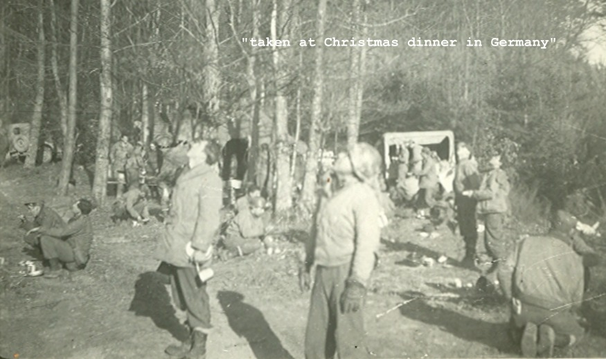 A Battery 160th Field Artillery, Christmas dinner in Germany 1944