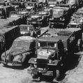 45th ID Vehicles waiting to be loaded onto the ships