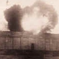 Explosion on top of the Zepplin platz