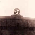 Swastika on top of the Zepplin Platz