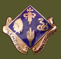 45th ID Headquarters crest WW2