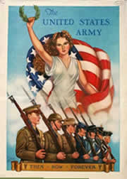 The United States Army .. Then, Now, Forever      World War Two